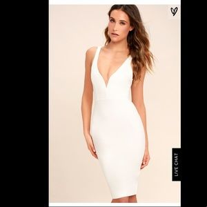 Lulu's Gracefully Yours White Bodycon Dress